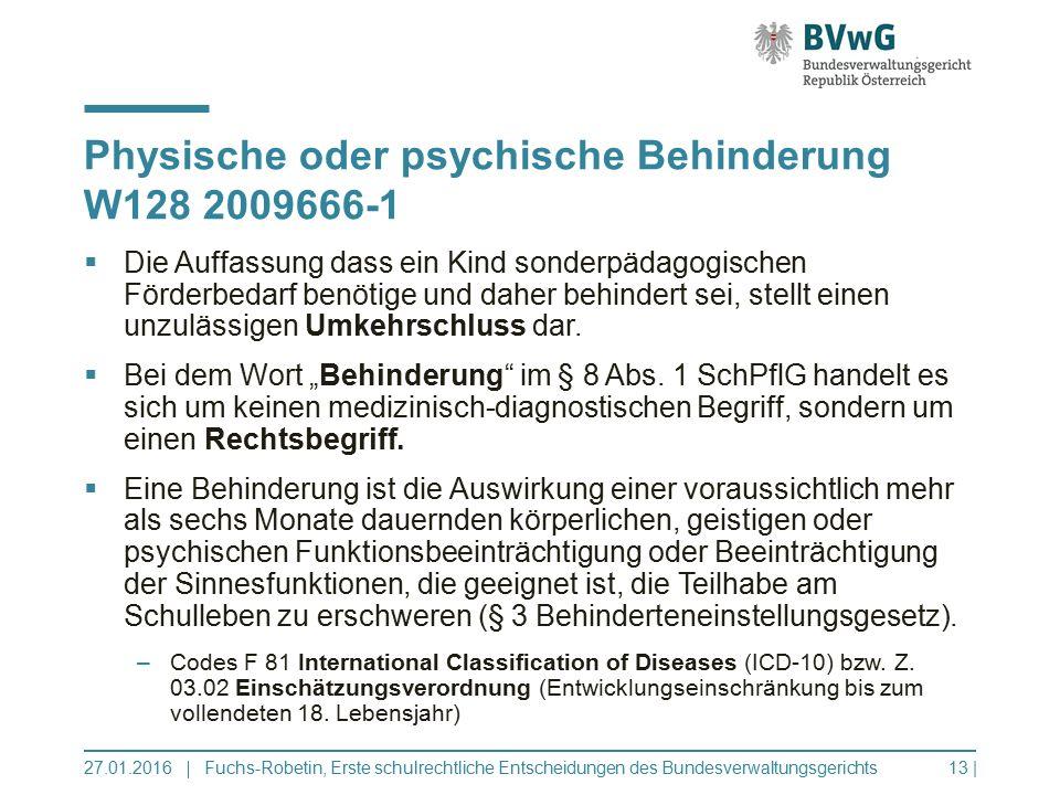 Physische oder psychische Behinderung W128 2009666-1