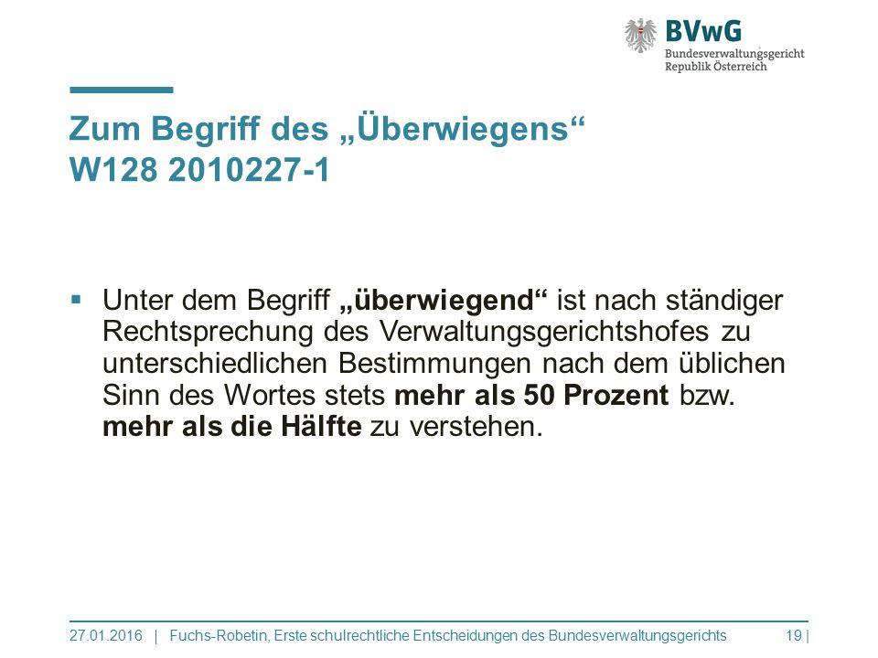 """Zum Begriff des """"Überwiegens W128 2010227-1"""