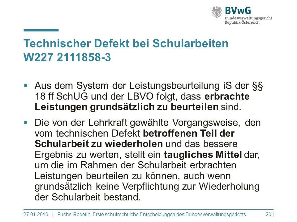 Technischer Defekt bei Schularbeiten W227 2111858-3