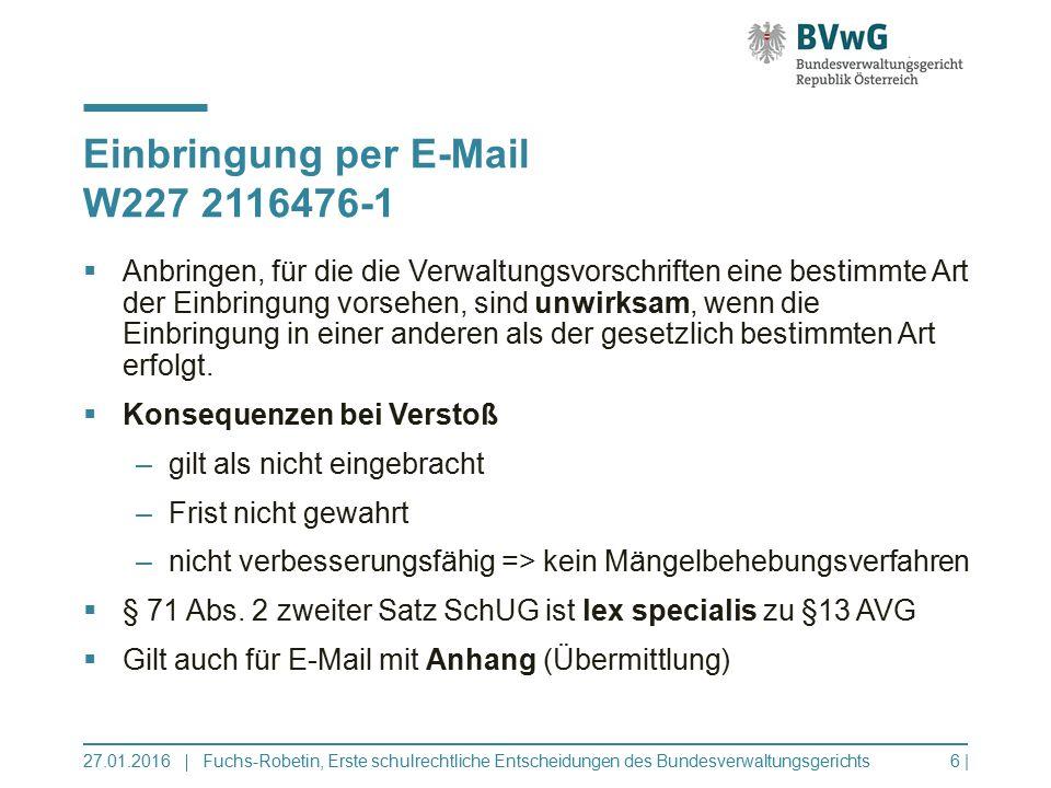 Einbringung per E-Mail W227 2116476-1