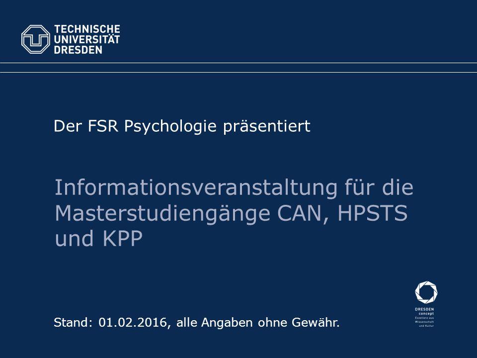 Der FSR Psychologie präsentiert