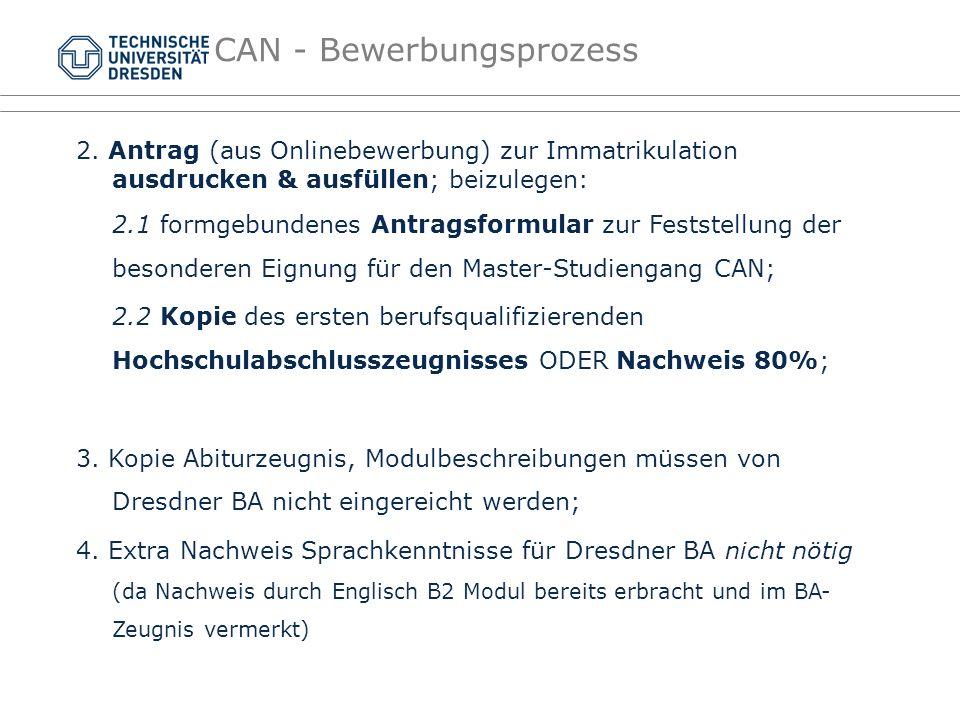 CAN - Bewerbungsprozess