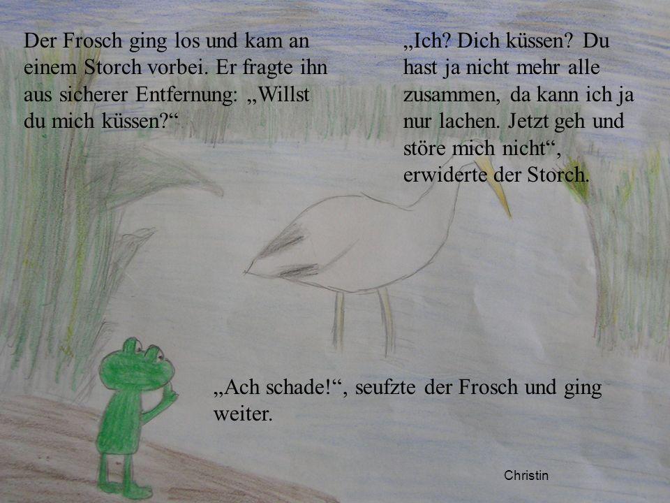 """""""Ach schade! , seufzte der Frosch und ging weiter."""