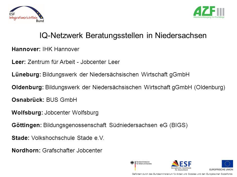 IQ-Netzwerk Beratungsstellen in Niedersachsen