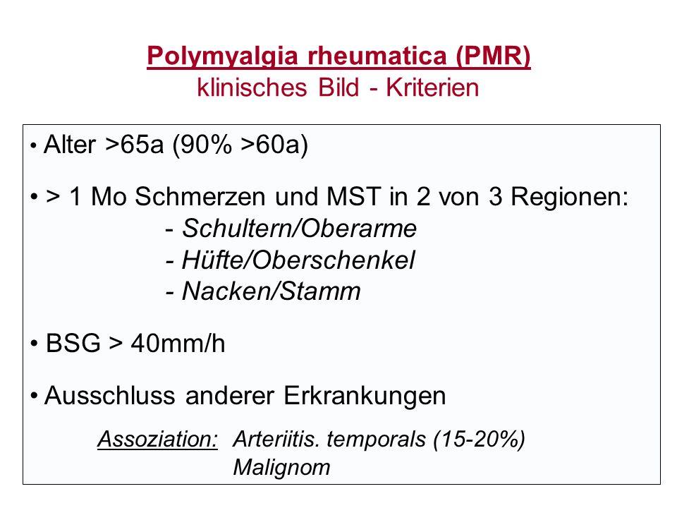 Polymyalgia rheumatica (PMR) klinisches Bild - Kriterien