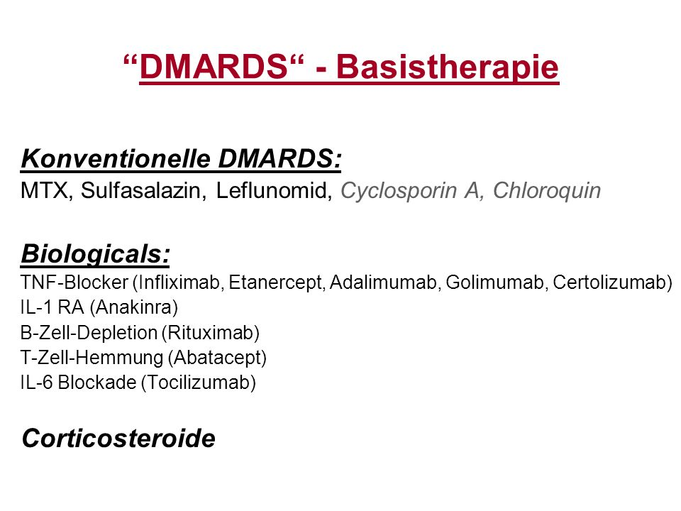 DMARDS - Basistherapie