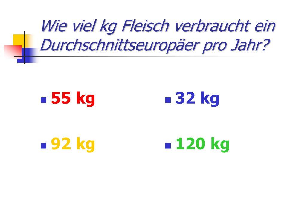 Wie viel kg Fleisch verbraucht ein Durchschnittseuropäer pro Jahr