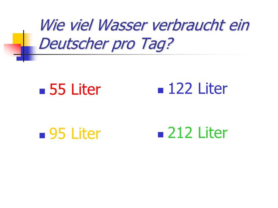 Wie viel Wasser verbraucht ein Deutscher pro Tag