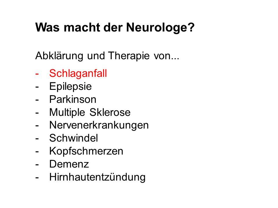 Was macht der Neurologe