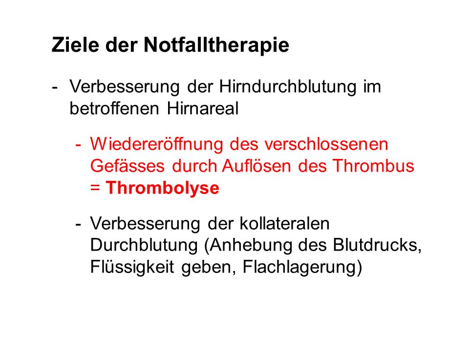 Ziele der Notfalltherapie