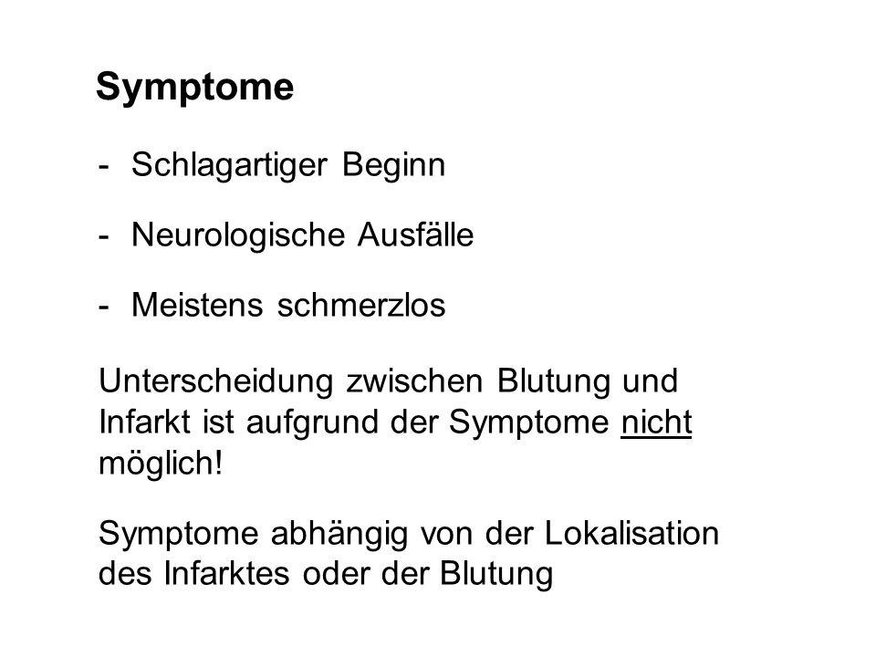 Symptome Schlagartiger Beginn Neurologische Ausfälle