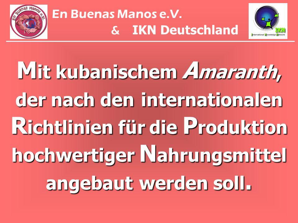 En Buenas Manos e.V. & IKN Deutschland.