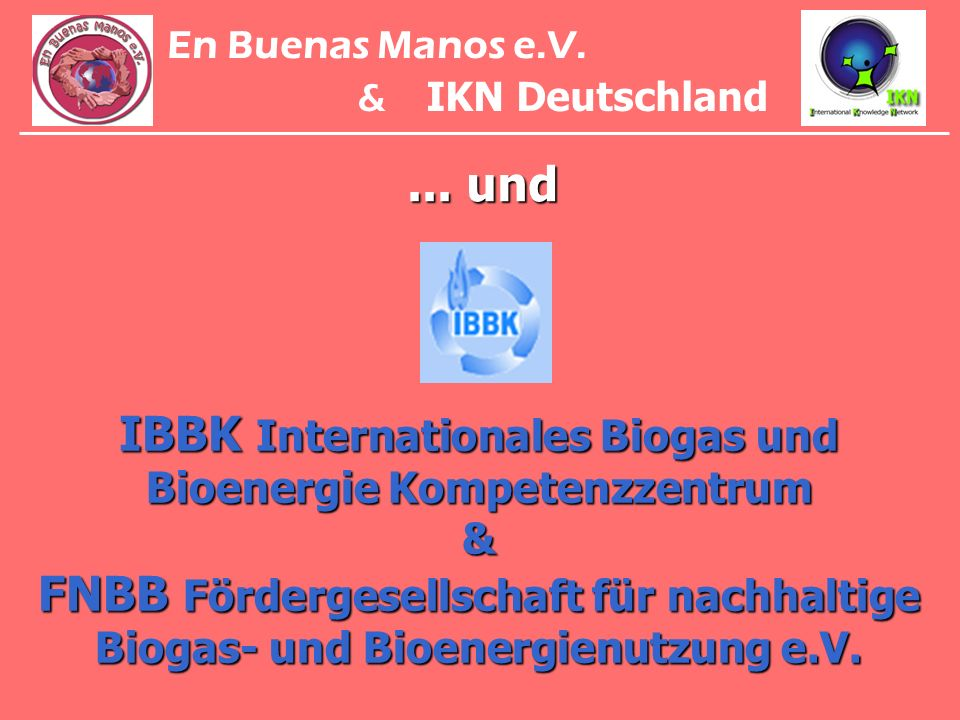 En Buenas Manos e.V.& IKN Deutschland. ... und.