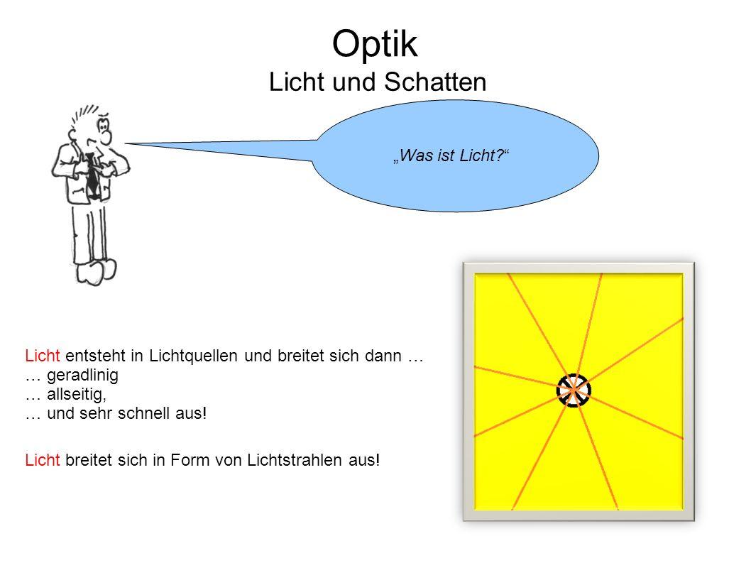 """Optik Licht und Schatten """"Was ist Licht"""