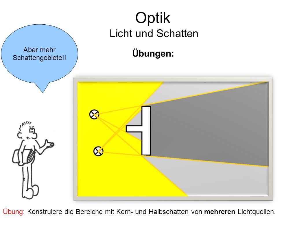Optik Licht und Schatten Übungen: Aber mehr Schattengebiete!!