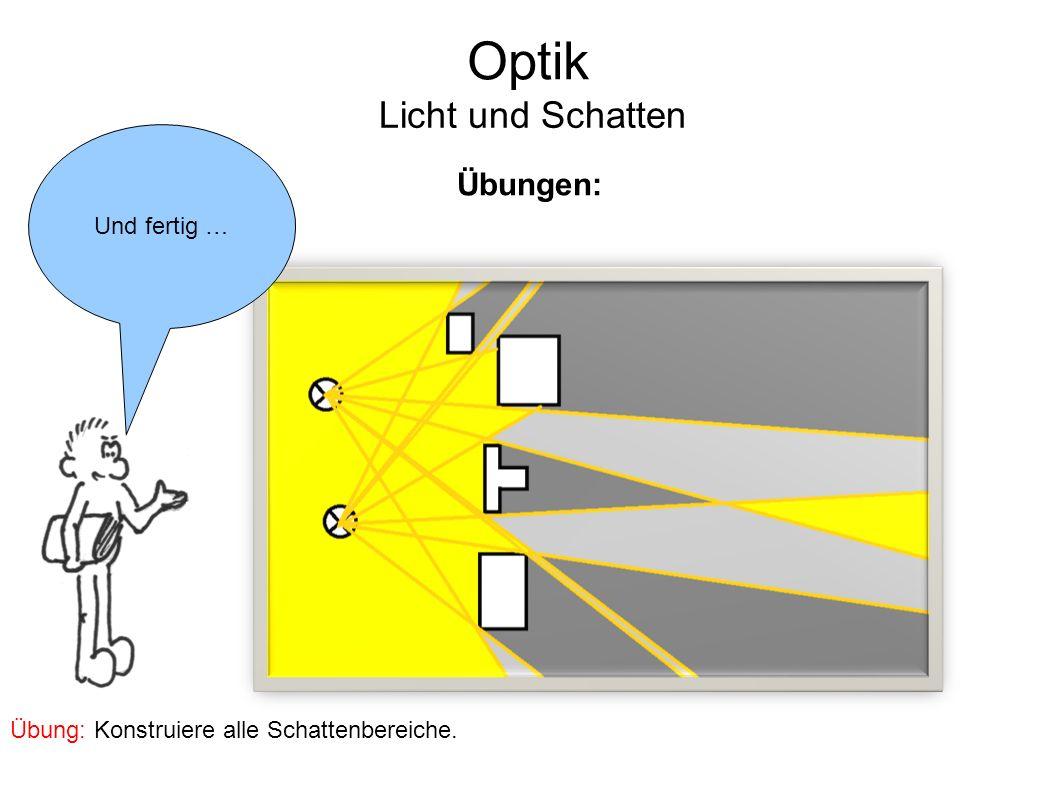 Optik Licht und Schatten Übungen: Und fertig …