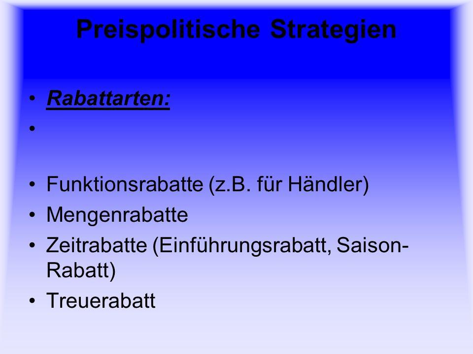 Preispolitische Strategien
