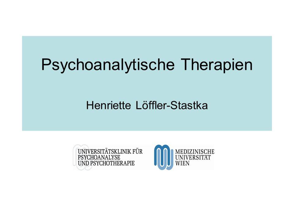 Psychoanalytische Therapien Henriette Löffler-Stastka
