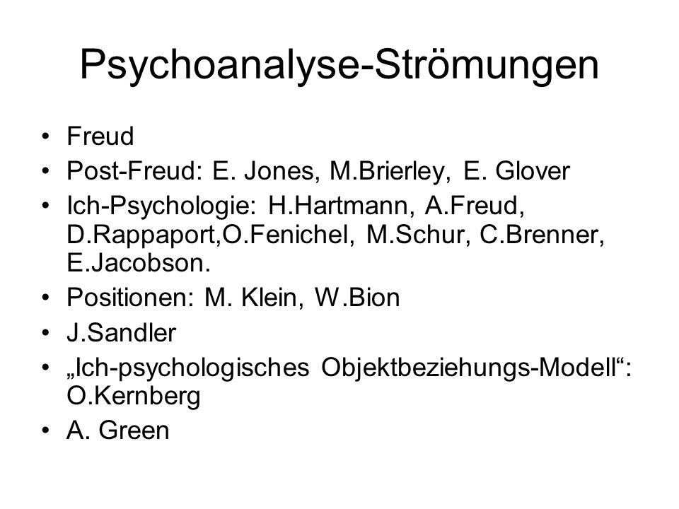 Psychoanalyse-Strömungen