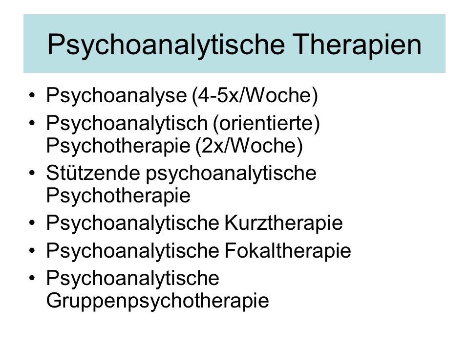 Psychoanalytische Therapien