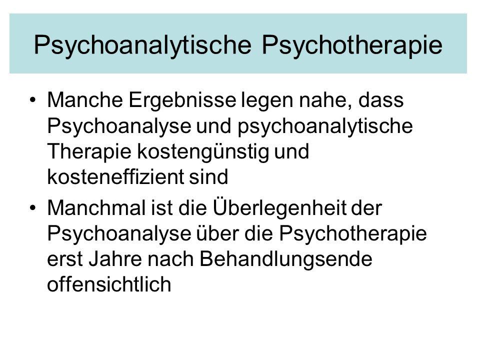 Psychoanalytische Psychotherapie