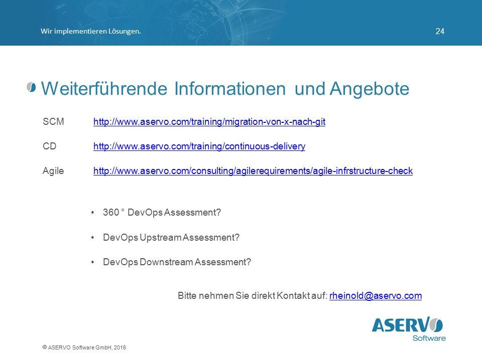 Weiterführende Informationen und Angebote