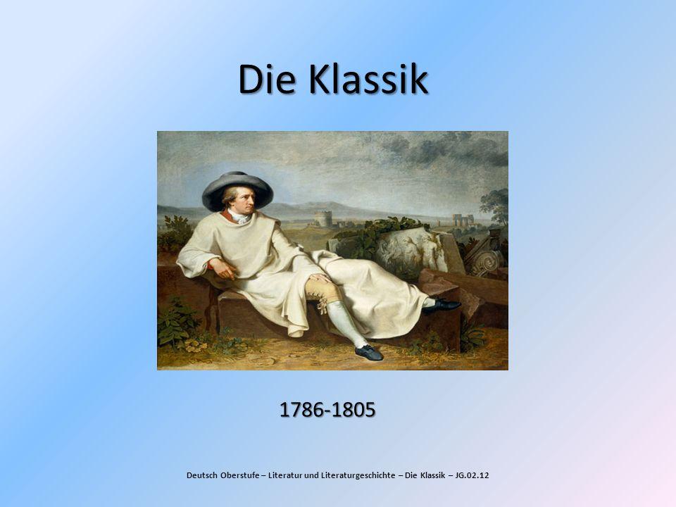 Die Klassik 1786-1805.