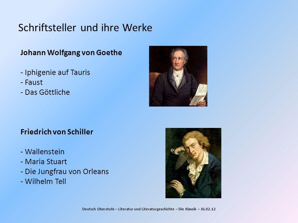 Schriftsteller und ihre Werke