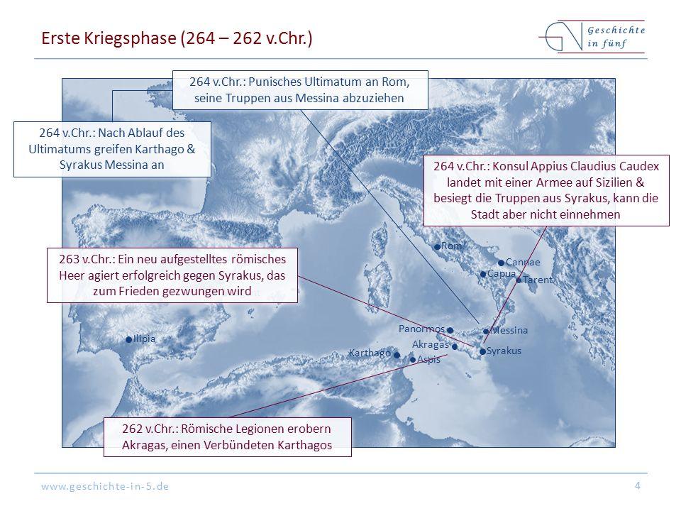 Erste Kriegsphase (264 – 262 v.Chr.)