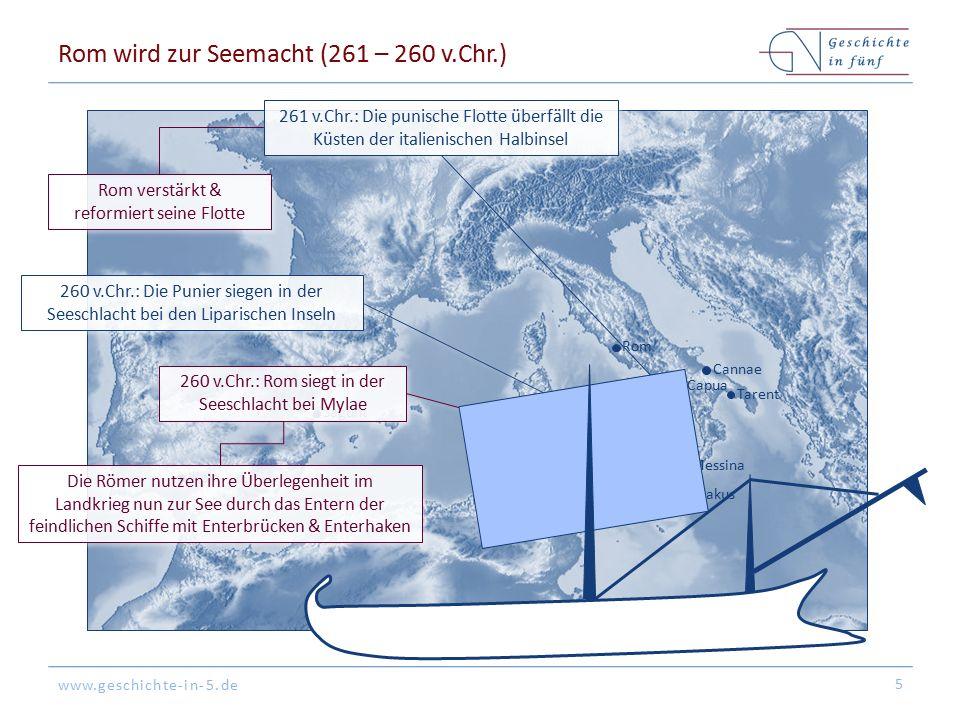 Rom wird zur Seemacht (261 – 260 v.Chr.)