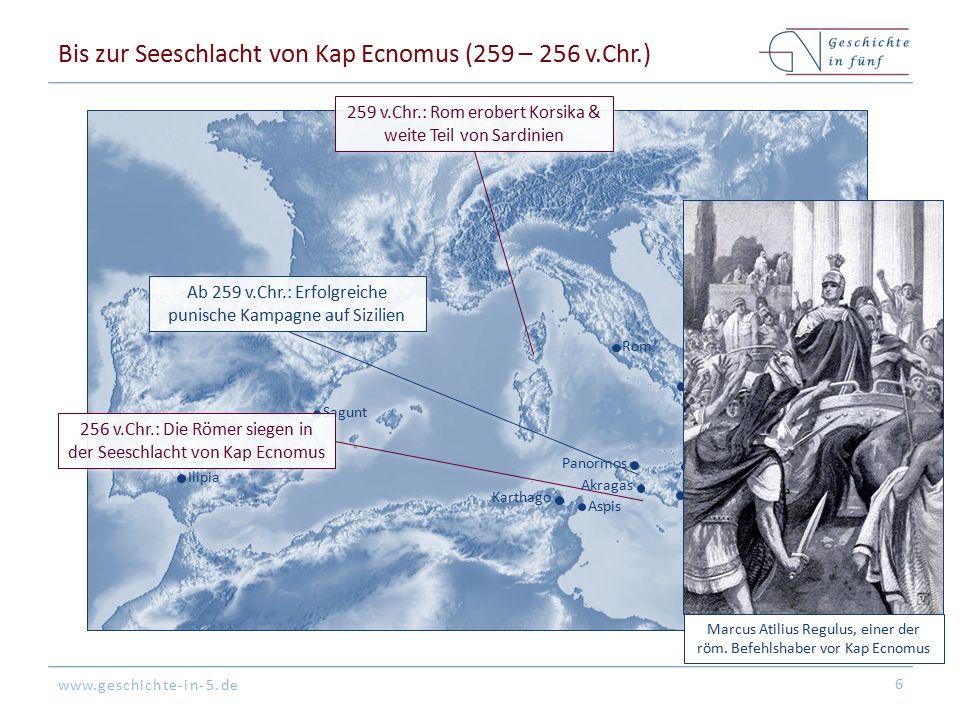 Bis zur Seeschlacht von Kap Ecnomus (259 – 256 v.Chr.)