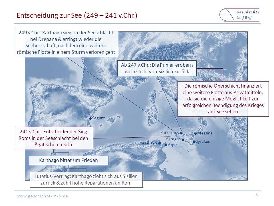 Entscheidung zur See (249 – 241 v.Chr.)