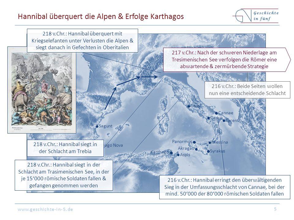 Hannibal überquert die Alpen & Erfolge Karthagos