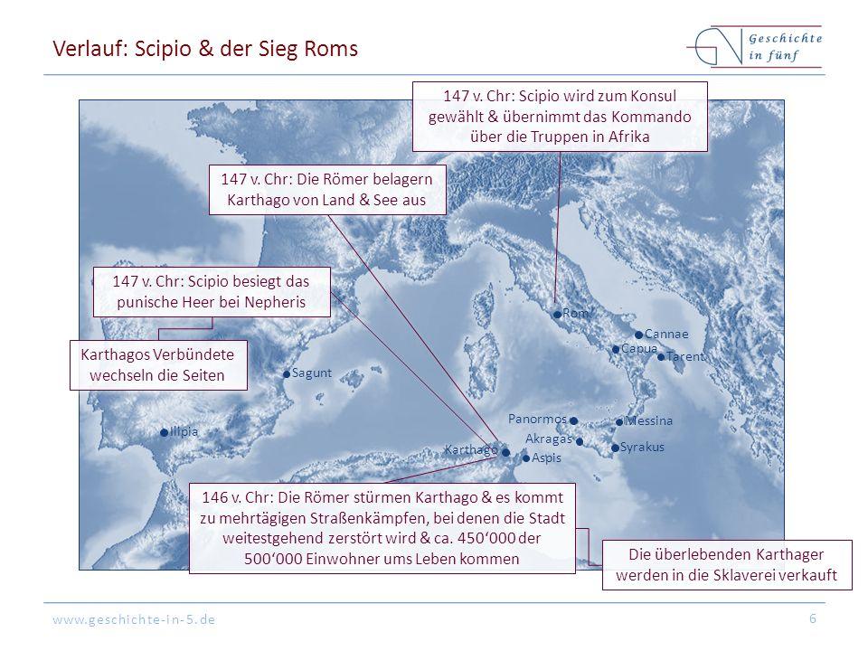 Verlauf: Scipio & der Sieg Roms