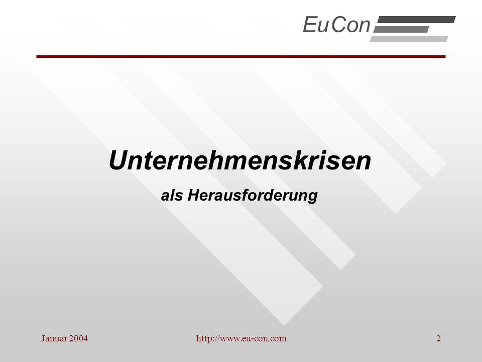 Unternehmenskrisen Eu Con als Herausforderung Januar 2004