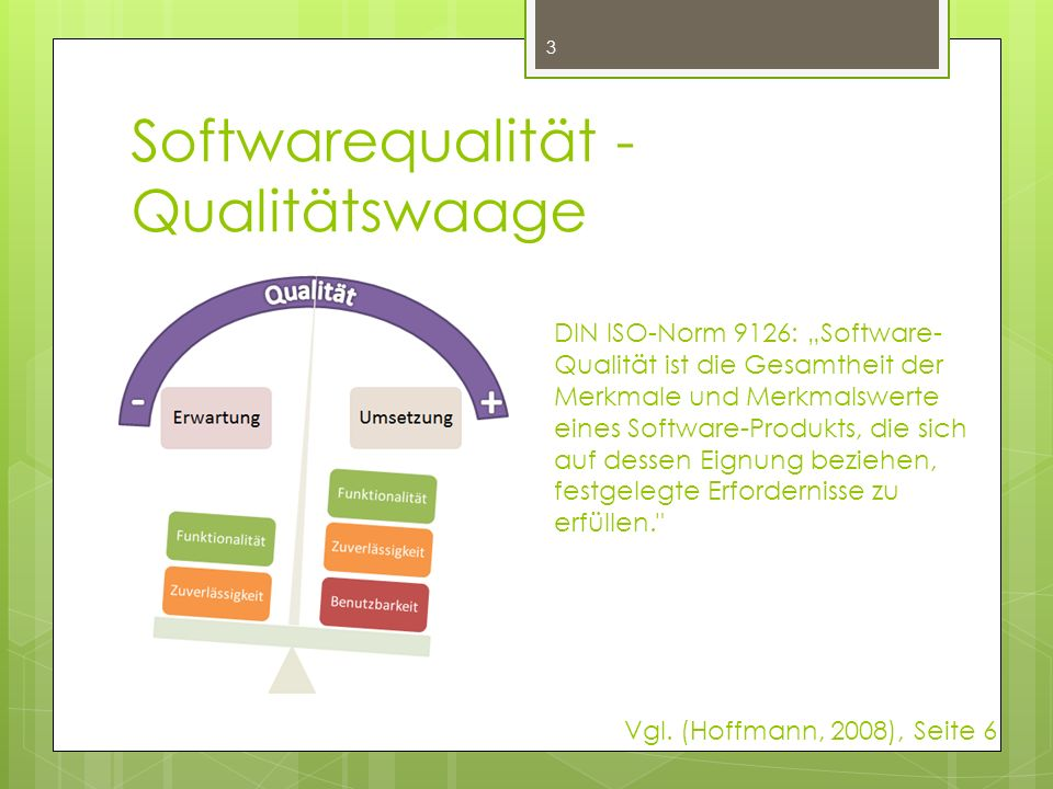 Softwarequalität - Qualitätswaage