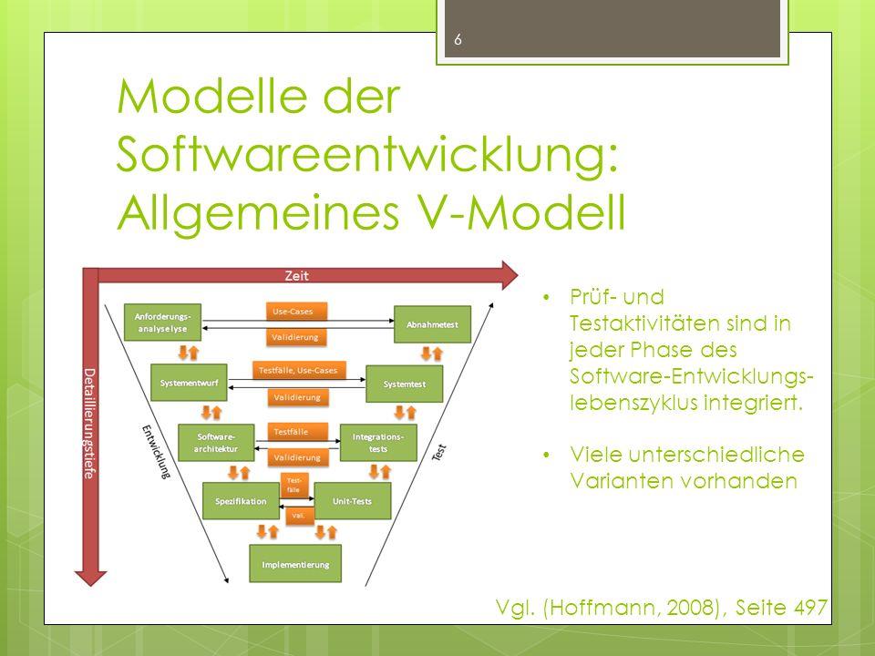 Modelle der Softwareentwicklung: Allgemeines V-Modell