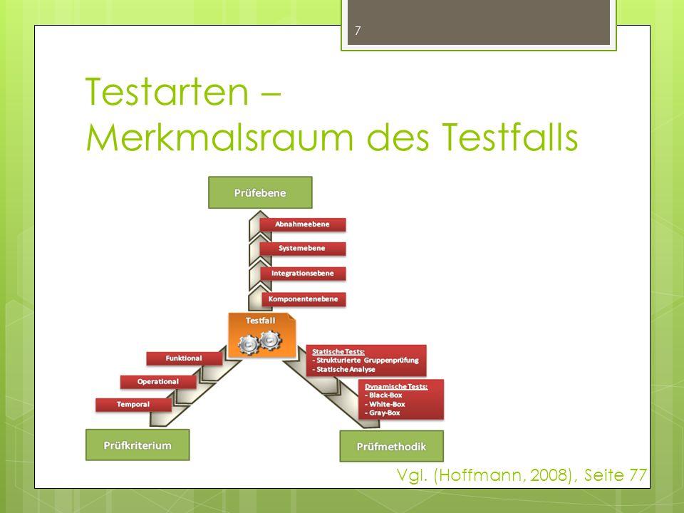 Testarten – Merkmalsraum des Testfalls