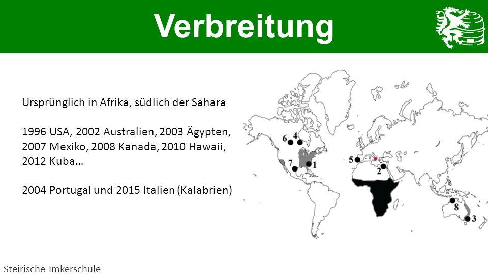 Verbreitung Ursprünglich in Afrika, südlich der Sahara
