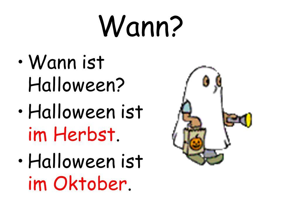 Wann Wann ist Halloween Halloween ist im Herbst.