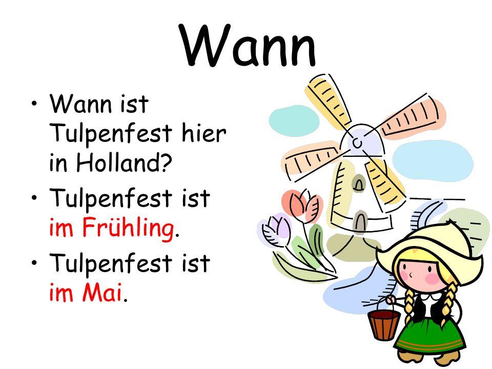 Wann Wann ist Tulpenfest hier in Holland Tulpenfest ist im Frühling.