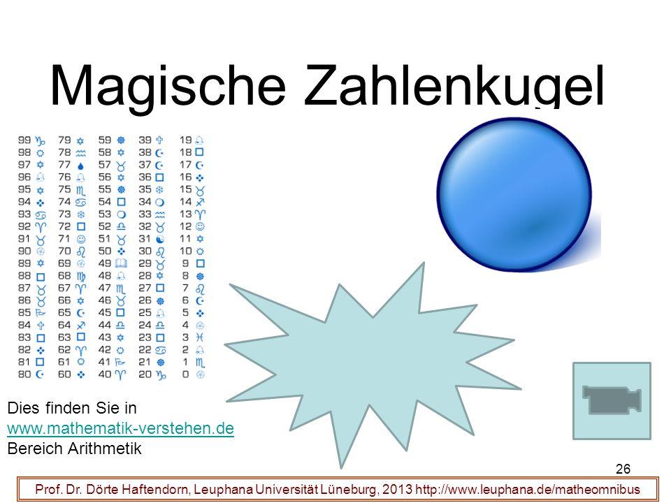 Magische Zahlenkugel Dies finden Sie in www.mathematik-verstehen.de