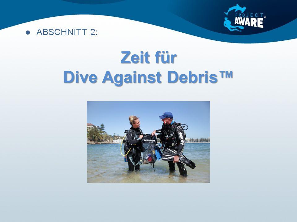 Zeit für Dive Against Debris™