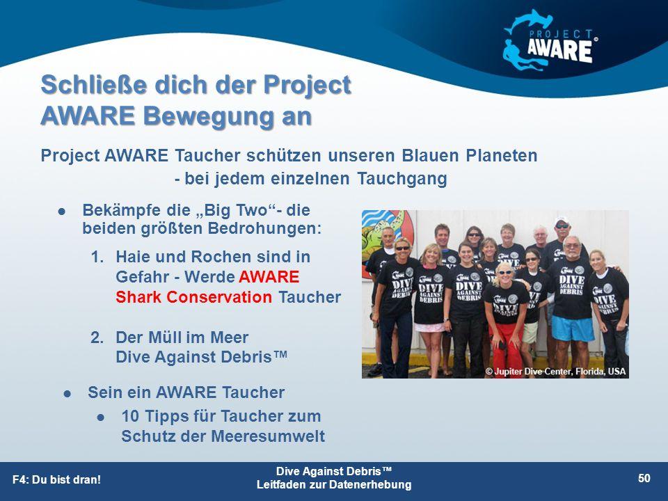 Schließe dich der Project AWARE Bewegung an