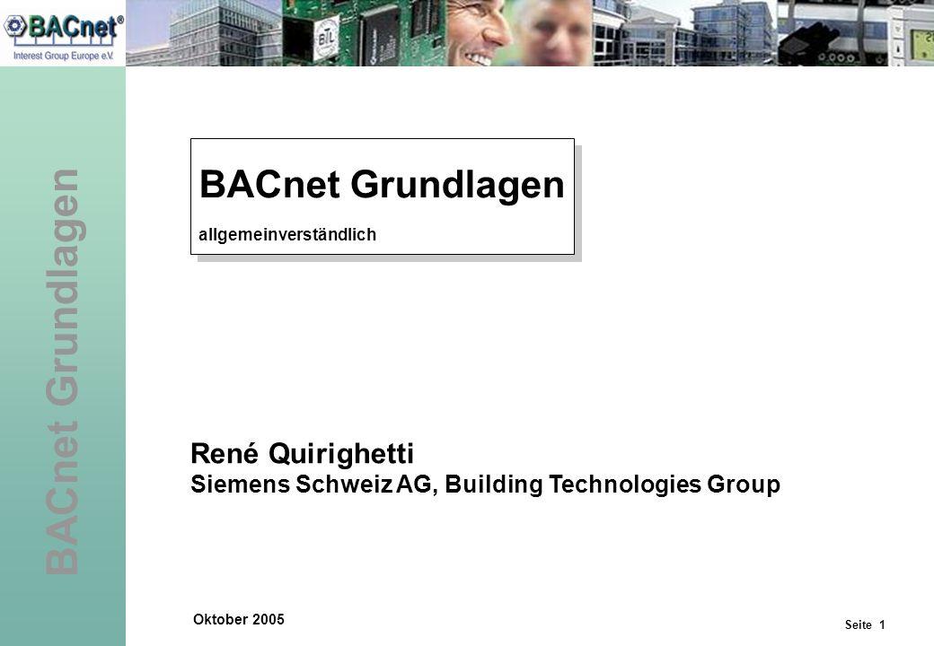 BACnet Grundlagen René Quirighetti