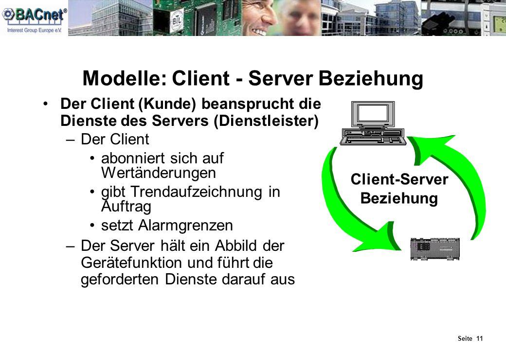 Modelle: Client - Server Beziehung
