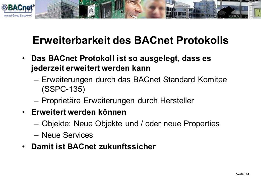 Erweiterbarkeit des BACnet Protokolls
