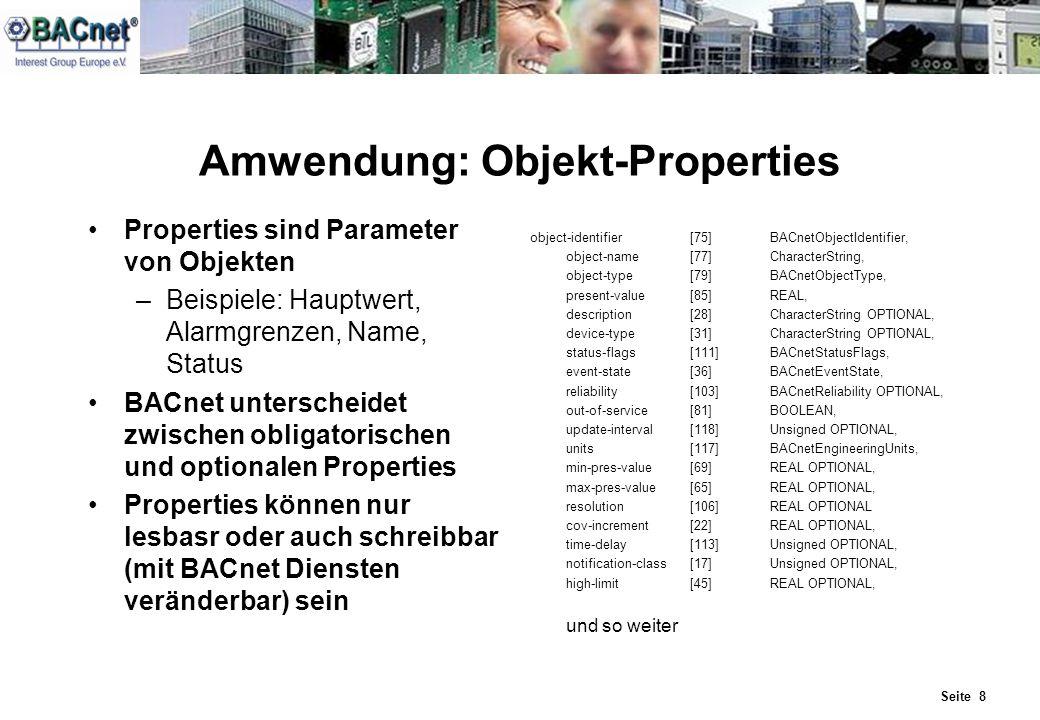 Amwendung: Objekt-Properties