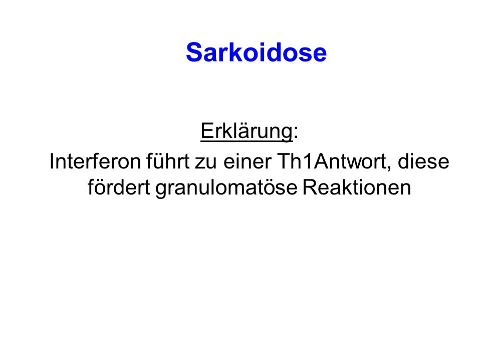 Sarkoidose Erklärung: