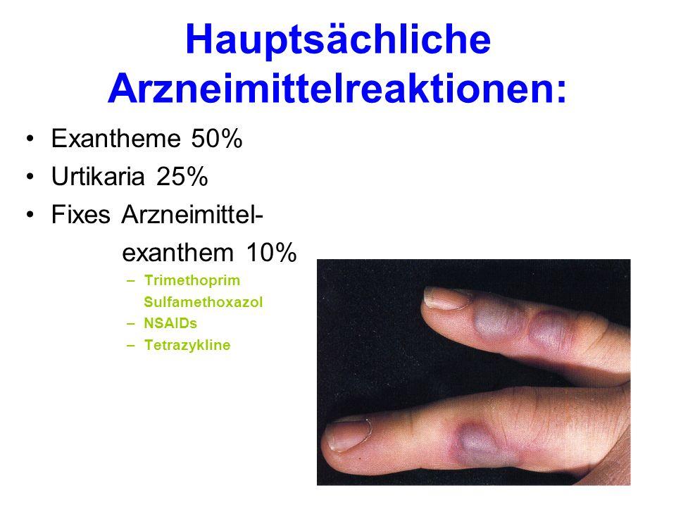 Hauptsächliche Arzneimittelreaktionen: